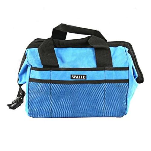 Bolsa profissional com tela para transporte de acessórios de tosa Wahl - Azul
