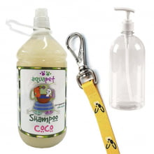 Combo Shampoo Coco 1L Aquapet + Frasco 1L + Guia Costashow