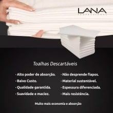 Toalhas Descartáveis Lana Profissional 50x80cm